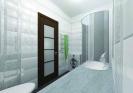 Перспективный объемный вид санузла<br>Проект, дизайн квартиры, дизайн-проект, дизайн интерьера